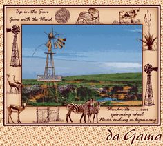 An African Story Laser Art, Gone With The Wind, Windmills, Weave, Landscapes, African, Textiles, Colours, Website