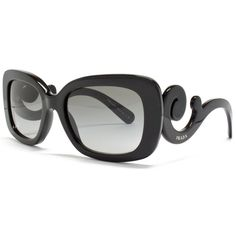 PRADA women's sunglasses MINIMAL BAROQUE havana black pinup girl PR 27OS 1AB3M1