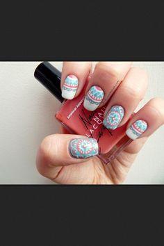 Most Popular Nails Photos Creative Nail Designs, Creative Nails, Nail Art Designs, Nails Design, Hair Designs, Nailart, Tumblr Nail Art, Wide Nails, Mandala Nails