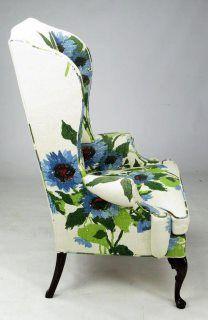 big bold floral on a wingback chair (casa sugar)