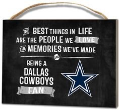 Dallas Cowboys Small Plaque - Best Things