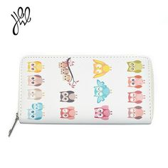 5763624f968116 2018 New Wallet For Girls PU Leather Purses Cartoon Owl Pattern Wallet  Brand Girls Wallet For