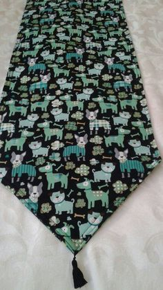 St Patricks Day Dog Table Runner 72x14 Reversible and Machine Washable