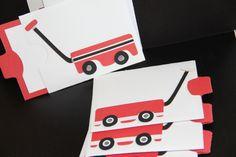 6 Sweet Red Wagon Pocket Valentines. $10.50, via Etsy.