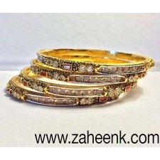 gold plated bangle set