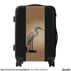 Egret Carry On customizable luggage