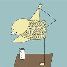 twitter bird yoga - Google Search