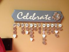 Family birthday and anniversary sign. I like the hearts for anniversaries...