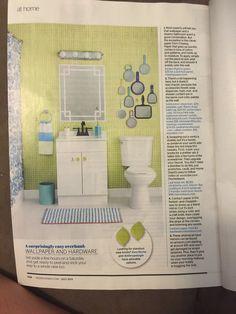 Wallpaper and hardware - bathroom ideas