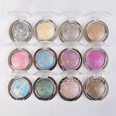 $ 2,57 1pc Moda Shimmer Asse Sombra em Pó Eye Makeup Eyeshade comestics 12 Colors - BornPrettyStore.com