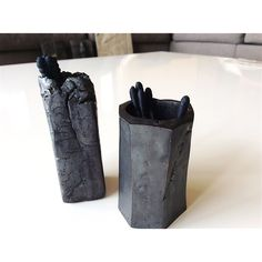 Ceramics / Pottery / set / pots / black / by Ice Grey (Tokyo)