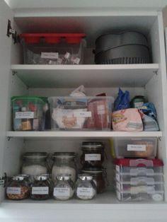 My very organised cake cupboard!