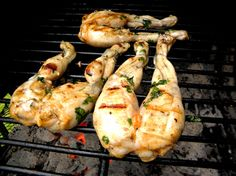 Frog's Legs on the Grill
