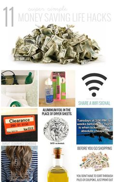11 super simple money saving life hacks - seriously there is no excuse NOT to do some of these!