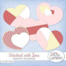 Stitched with Love Templates by Kim Cameron cudigitals.com cu commercial template scrap scrapbook digital graphics Cameron #digitalscrapbooking #photoshop #digiscrap #scrapbooking