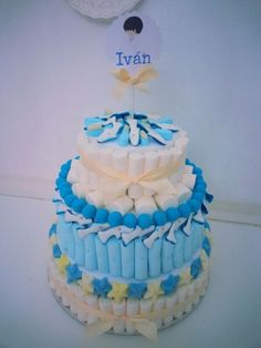 torta de comunion con golosinas