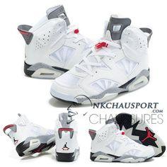 Nike Air Jordan 6 | Classique Chaussure De Basket Homme Blanche-1