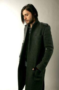 JARED LETO in a green coat...