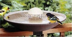 bird bath agitator, keeps the water moving to prevent freezing in colder months and mosquitoes in the summer.  runs on D cell batteries.