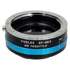 Vizelex ND Throttle Lens Mount Adapter from Fotodiox Pro - Canon EOS (EF, EF-s) Lens to Sony E-Mount Camera (APS-C & Full Frame such as NEX-5, NEX-7 & α7) - with Built-In Variable ND Filter (ND2-ND1000)