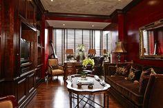 Le salon de l'appartement de luxe de Janet Jackson à New York.