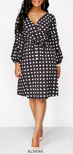 Cute dot printed dress for women at Rosewe.com, free shipping worldwide, check it out.