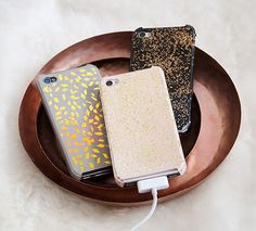 DIY sparkly iPhone cases