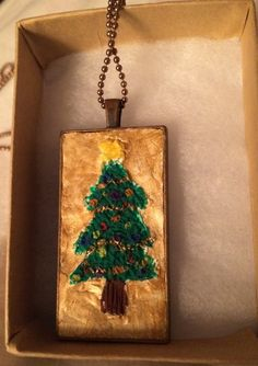 Shimmering Christmas Tree Necklace by inthespicerack on Etsy