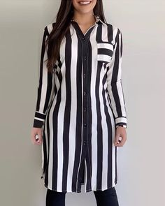Sewing Blouses, Trend Fashion, Womens Fashion Online, Shirt Designs, Dress Designs, Amazing Women, Sleeve Styles, Designer Dresses, Shirt Dress