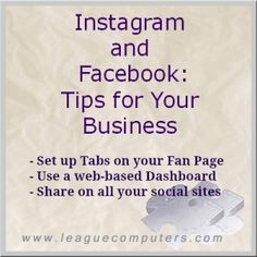 Instagram and Facebook – Tips for Small Business