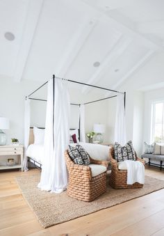 Master Bedroom. Like the bench under the window and the two chairs at the end of the bed