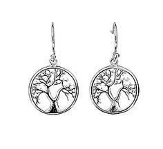 Silver Tree of Life Drop Earrings #TreeOfLife #DropEarrings #TreeJewellery #SilverEarrings #Nature