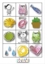 La couleur des émotions : loto  Les planches de jeux à plastifier Les jetons du jeux à plastifier et à découper loto couleur emotion  La couleur des émotions de Anna Llenas aux éditions…