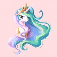 My Little Pony: Friendship is Magic, alicorn princess, unicorn, pegasus Princesa Celestia, Celestia And Luna, Unicorn Drawing, Unicorn Art, Mlp My Little Pony, My Little Pony Friendship, Unicornios Wallpaper, French Images, Beautiful Unicorn