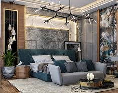 Modern Villa on Behance Modern Master Bedroom, Bedroom Bed Design, Luxury Homes Interior, Modern Interior Design, Bedroom Decorating Tips, Ikea Living Room, Home Building Design, Luxurious Bedrooms, Interiores Design