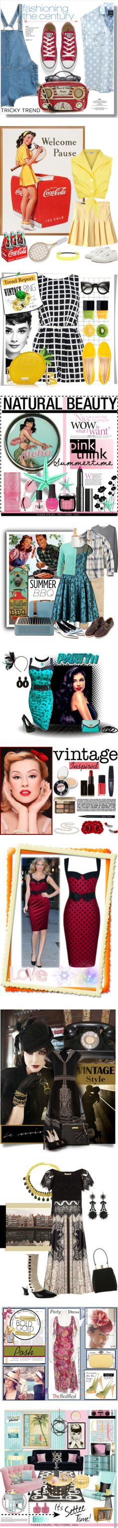 """""""Retro Vintage 2015"""" by yours-styling-best-friend ❤ liked on Polyvore"""