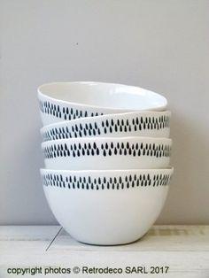 Bol Müesli Delicate Anthracite en porcelaine Ib Laursen