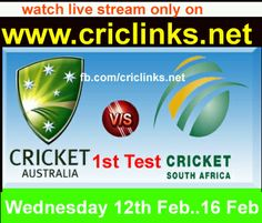 Wednesday,12th Feb..1st Test between AUS vs south africa will be played at Centurion(SA).both Teams are Awsome from so its worth to watch dont miss..Match will start at 1.30 PM PST.2.00 IST.Watch live action only on http://www.criclinks.net/ #AUSvsSA