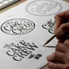 I love seeing hand lettering and hand logo making. Creativity needs to rely more on the artist's ideas and abilities, not simply going straight to the computer.