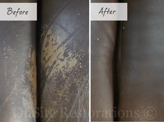 before after worn leather couch repair-leather furniture repair for sofa