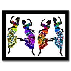 African Foot Dance Postcard