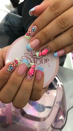 Love Nails, Pink Nails, Girls Nail Designs, Bella Nails, Girls Nails, Nails Inspiration, Pedicure, Hair And Nails, Make Up