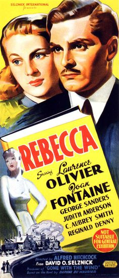 Story of a young woman who marries a fascinating widower only to find out that she must live in the shadow of his former wife, Rebecca, who died mysteriously several years earlier. The young wife must come to grips with the terrible secret of her handsome, cold husband, Max De Winter (Laurence Olivier). She must also deal with the jealous, obsessed Mrs. Danvers (Judith Anderson), the housekeeper, who will not accept her as the mistress of the house.