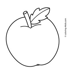 apple fruits coloring pages simple for kids printable free