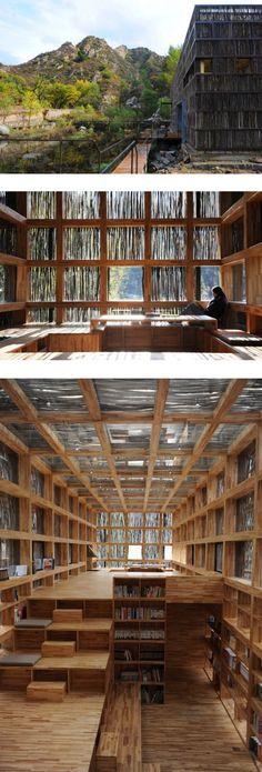 Biblioteca  Li Xiaodong Studio -  Huairou, Beijing.