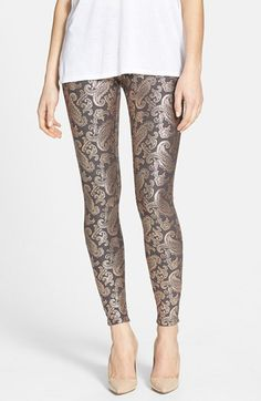 $44 Hue Pearlized Brocade Jean Leggings available at #Nordstrom (in white)