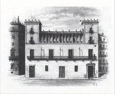Casa de la Ciudad de Valencia, poco antes de su derribo
