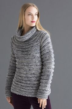 Rings of a textural ridge pattern provide a dramatic look, accenting the tonal depth of overdyed ZARA PLUS CHINÉ.
