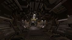 ArtStation - Sci-Fi Hallway, Tracy Hunt