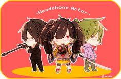 Shitarou,Takane&Kido | Mekakucity Actors